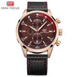 Mini Focus Black Brown Quartz Wrist Watch with Competitive Price