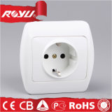 Europe CE Electric 3pin Schuko Wall Socket Adapter