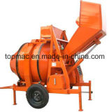 Topmac Famous Diesel Concrete Mixer with Hydraulic Hopper