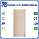 Modern Simple PVC Laminated Wooden WPC Home Decoration Door Wholesale with SGS Certificate