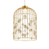 2018 Modern Luxury Birdcage Shape with Crystal for Decoration