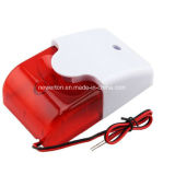 Mini 12V Security Wired Flash & Sound Alarm Strobe Light Siren
