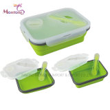 Hot-Seller Silicone Collapsible Lunch Box 22*15.5*7cm
