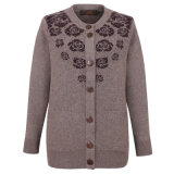 Gn1737 Yak and Wool Knitted Cardigan for Women