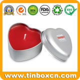 Customized Heart-Shaped Metal Tin Can Aromatherapy Candle Tins