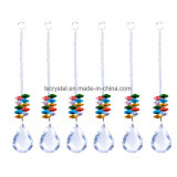 Clear Crystal Octagonal Bead String Garland Chandelier Beads Hanging for Wedding Festive Christmas Tree Decoration