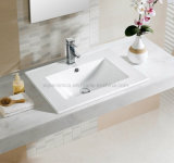 60cm Rectangular Thin Edge Wash Basin for Bathroom Vanity