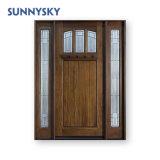 Certified Front Paint Solid Wood Yellow Wooden Door