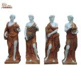 Garden Decoration Stone Carved European Four Seasons Marble Woman Statue