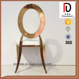 Round Back with Hollow High Quality Dining Room Wedding Gold Stainless Steel Chair