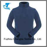 Male′s Half-Zip Pullover Lightweight Solid Polar Thermal Fleece Jacket