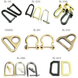 Hot Sale Metal Zinc Alloy D Ring Buckle for Bag Parts Belt Buckle Shoes Leather Goods Accessories