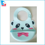 Cheap Manufacturer Silicone Baby Bib with Cute Animal Printed