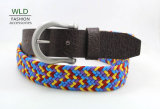 Fashion Basic Webbing Woven Genuine Top Leather Belt Lky1141