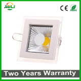 Square Aliminum with Glass 5W/12W/18W COB LED Panel Light