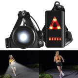 Outdoor Night Running Lights LED Chest Light Back Warning Light with Rechargeable Battery for Camping, Hiking, Running, Jogging, Outdoor Adventure