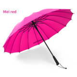 "24""*16k Pure Color Automatic Self-Opening Straight Umbrella"