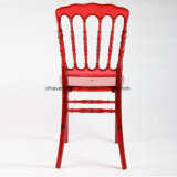 Clear Red Polycarbonate Resin Napoleon Wedding Chairs