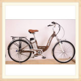 Alloy Lady City Electric Bicycle with Electric Motor