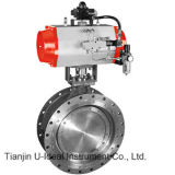 Pneumatic Triple /Three Eccentric off-Set Butterfly Valve