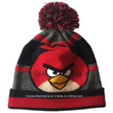 OEM Produce Customized Design Cartoon Acrylic Winter Knitted Jacquard Beanie Hat