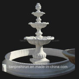 White Marble Pedestal Water Garden Fountain (XF903)