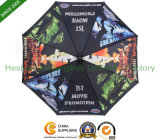 Auto Open Aluminium Stick Umbrella with Full Printing (SU-0023AF)