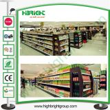Supermarket Wooden and Steel Luxury Gondola Shelving