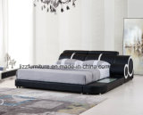 Modern Fashion Double Bed with Wooden Frame