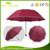 Hot Sale Manual Open 3 Fold Umbrella with Tipping
