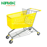 Safety and Resistant Supermarket Plastic Trolley Cart