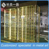 8K Mirror Golden Stainles Steel Hanging Wine Cabinet for Bar