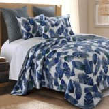 Cotton Rotary Print Bedding Set in Navy (DO6068)