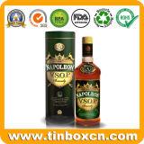 Round Whisky Tin Box, Vodka Tin Can, Vsop Wine Tins