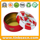 Food Safe Seamless Bottom Tinplate Sweets Mint Candy Can Metal Round Tin Box for Confectionary