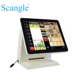"""15"""" Dual Screen All in One 5-Wire Resistitive Touch Screen POS Terminal"""