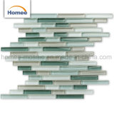 Hot Sale Linear Bullet Crystal Green Glass Mosaic Wall Tile