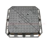 Heavy Duty Square Double Triangle Ductile Iron Manhole Cover with Frame