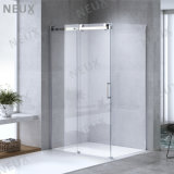 European Design Sliding Glass Door Shower Enclosure with Big Brass Rollers (L5801A)