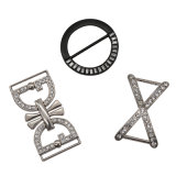 Fashion Metal Buckle Belt Buckle Leather Buckle Accessories with Crystals