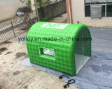 Green Inflatable Temporary Car Spray Tent