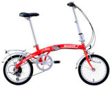 "Red Color 16"" Tyre Alloy Shimano 6 Speed Gears Folding Bike Electric Bicycle E-Bicycle E Scooter"