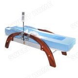 Hot Stone Massage Therapy Bed / Electric Automatic Full Body Therapeutic Wooden Massage Table