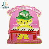 Good Price High Quality Paint Casting Gold Plated Metal Piano Emblem Badges