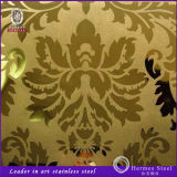Gold Color Etching Stainless Steel Panel Products