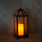 Black LED Candle Holder Candle Lantern for Halloween Party