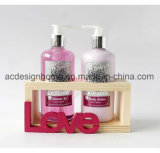 2018 Best Selling SPA Bath Gift Accessories Set Shower Gel Shampoo in Wooden Box with Luxury Packing