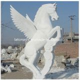 White Unique Animal Horse Art Sculpture for Outdoor, Garden, Yard