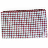 OEM Produce Custom Checks Jacquard Cotton Terry Red Kitchen Tea Towels