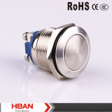 Hban (19mm) CE RoHS Dome Momentary Switches Push Button
